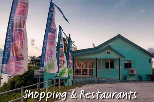 shopping and restarurants of christmas island